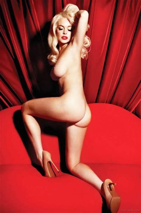 lindsay lohan nude marilyn monroe shoot jpg 464x700