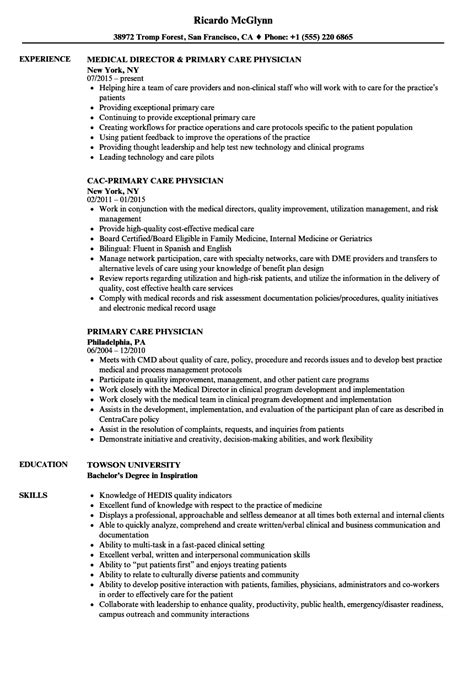 Primary care physician resume png 860x1240